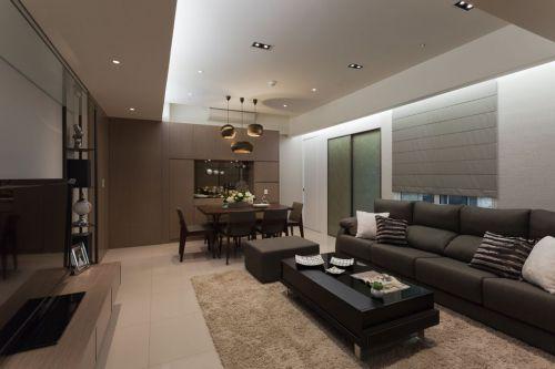灰色雅致現代風格客廳裝潢