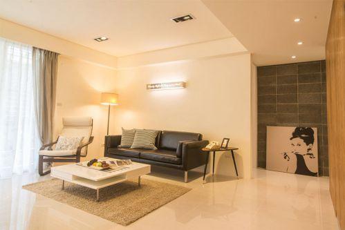 現代風格溫馨黃色客廳設計裝潢