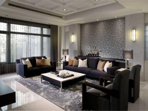 2018黑色現代風格客廳裝潢設計案例