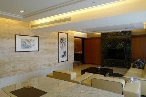 簡潔現代風格黃色客廳設計裝潢