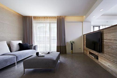 現代時尚灰色客廳裝修圖