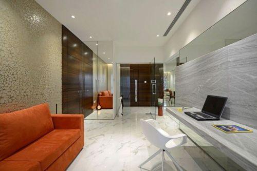 現代風橙色客廳設計賞析