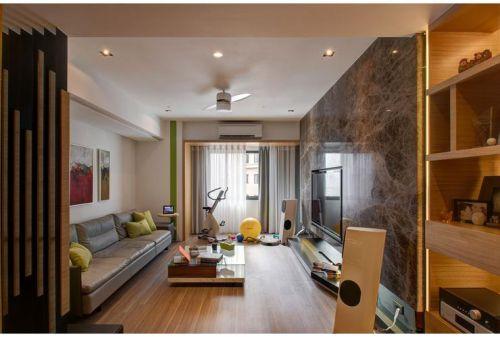 橙色現代客廳裝修布置