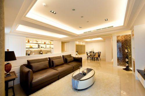 現代風格黃色客廳裝飾案例