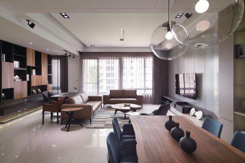 時尚質樸現代風格客廳裝飾案例