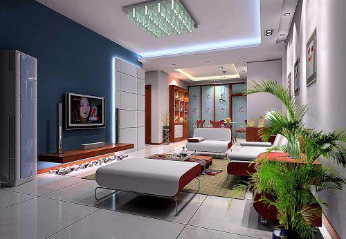 現代時尚質感客廳裝修案例欣賞