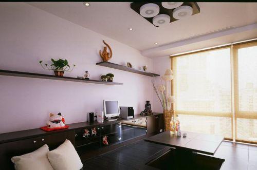 現代簡約黑色實用多功能客廳設計