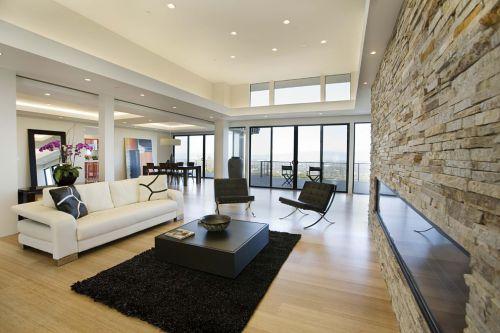米色時尚現代風格客廳裝修圖片