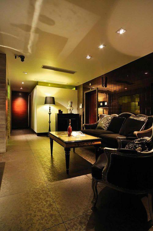 紫色時尚現代風格客廳裝潢裝修