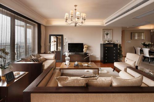 現代米色客廳設計圖欣賞