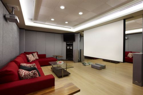 时尚现代风格客厅多媒体装潢设计