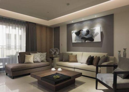2018文艺典雅现代风格客厅规划设计