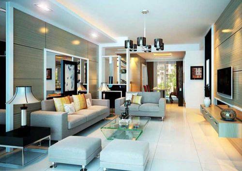 现代简洁客厅装修效果图