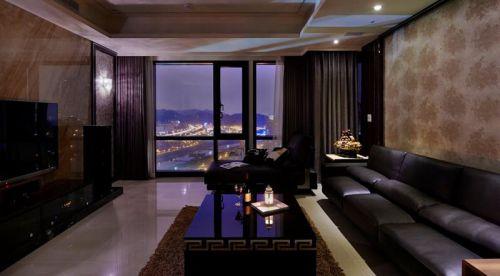 黑色现代风格客厅窗户设计装潢