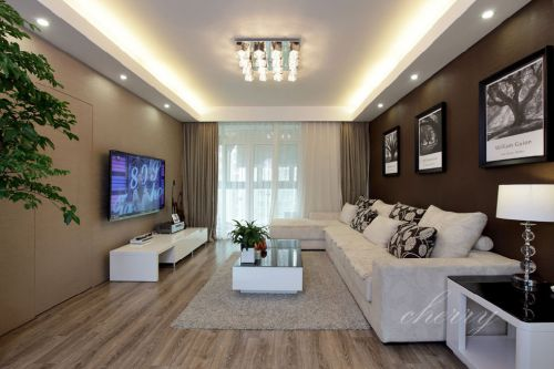 精致时尚现代风格客厅装潢装饰案例