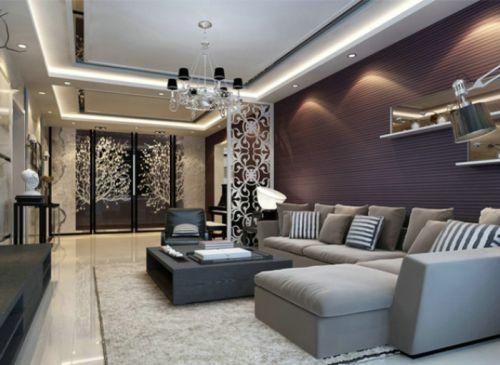 精致轻盈现代风格客厅装饰案例
