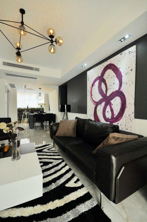 艺术时尚现代风格客厅装潢设计装修