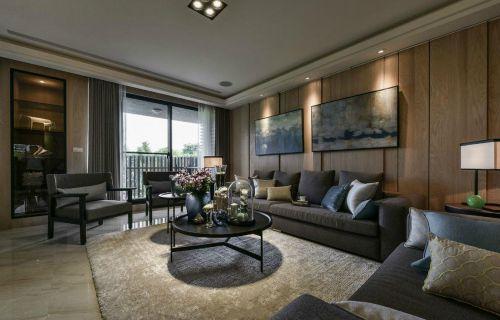 艺术时尚现代灰色客厅装潢装修设计