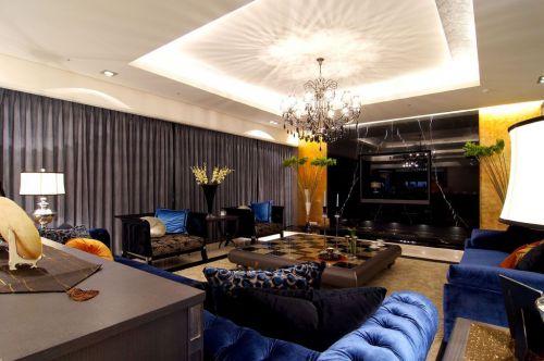 华丽大气现代风格两室一厅客厅吊顶设计赏析