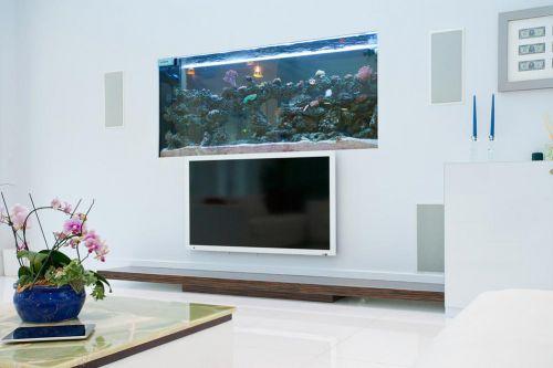 浪漫现代客厅鱼缸设计电视背景墙设计