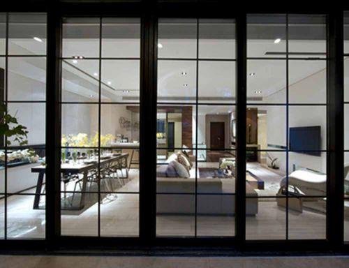 2018现代风格装修客厅隔断设计