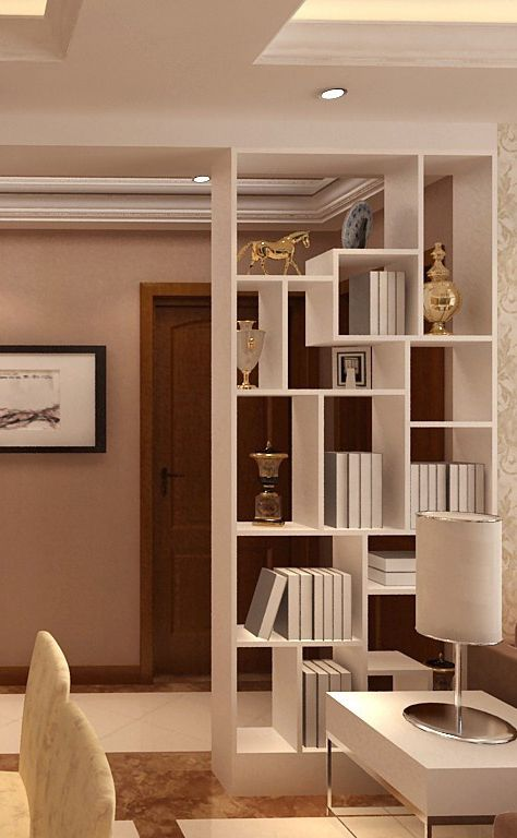 现代客厅隔断装修图片