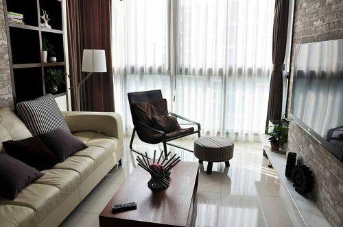 现代简约客厅吧台室内效果图片