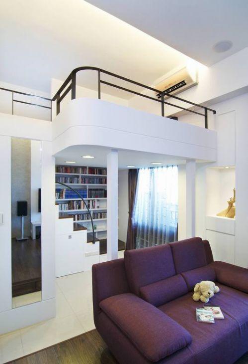 白色雅致現代風格客廳裝潢設計