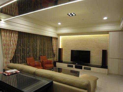大氣雅致時尚現代風格客廳裝潢裝飾案例