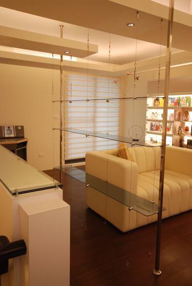 米色休閑現代風格客廳裝潢設計