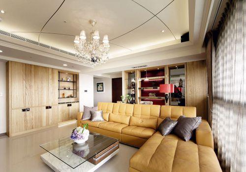 現代風格素雅米色客廳設計欣賞