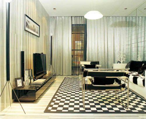 現代時尚客廳裝修效果圖展示