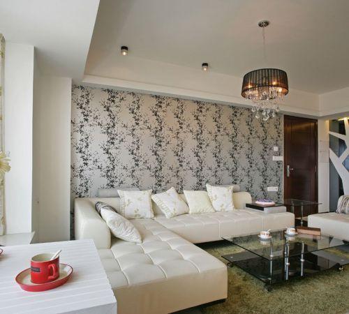 現代風格雅致米色客廳設計裝潢