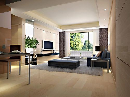 2018溫馨簡約雅致現代風格客廳設計