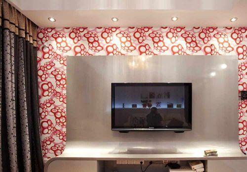 现代质感设计客厅背景墙布置