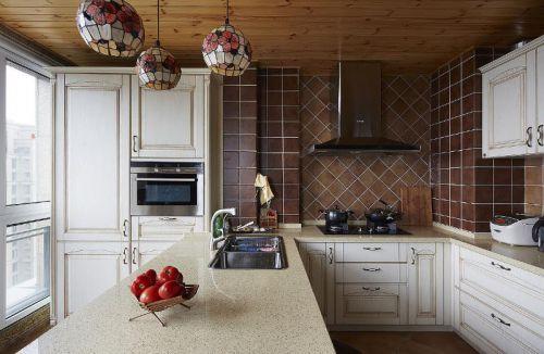 田园美式厨房灯具装修效果展示