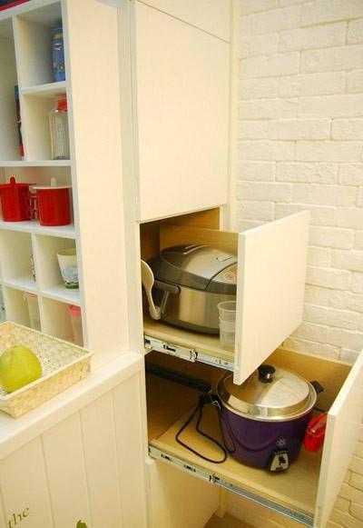 田园厨房储物柜效果图