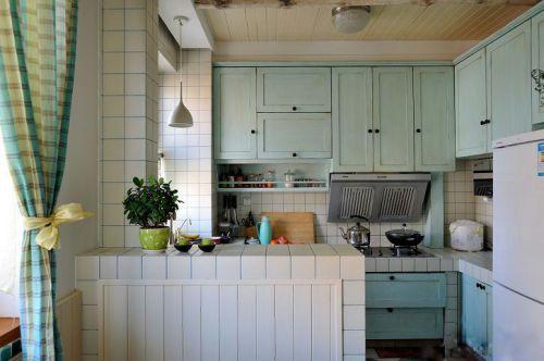 田园厨房窗帘装修案例