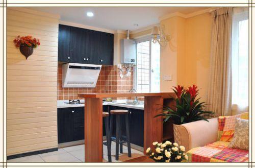 地中海混搭清新复古厨房装修图
