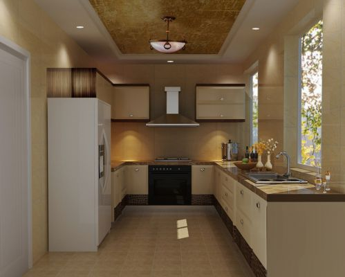 新古典厨房吊顶装修效果展示