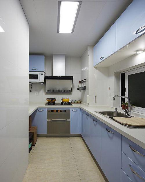 韩式混搭清新厨房装修图