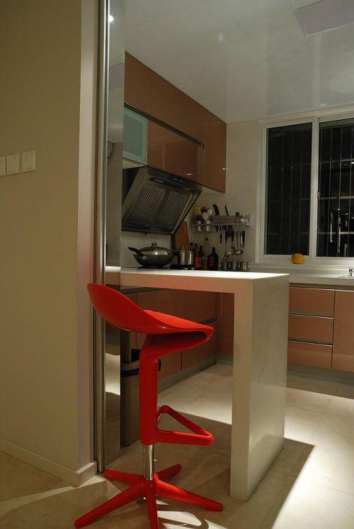 现代简约中式混搭厨房装修图