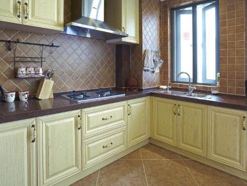 地中海美式混搭厨房效果图