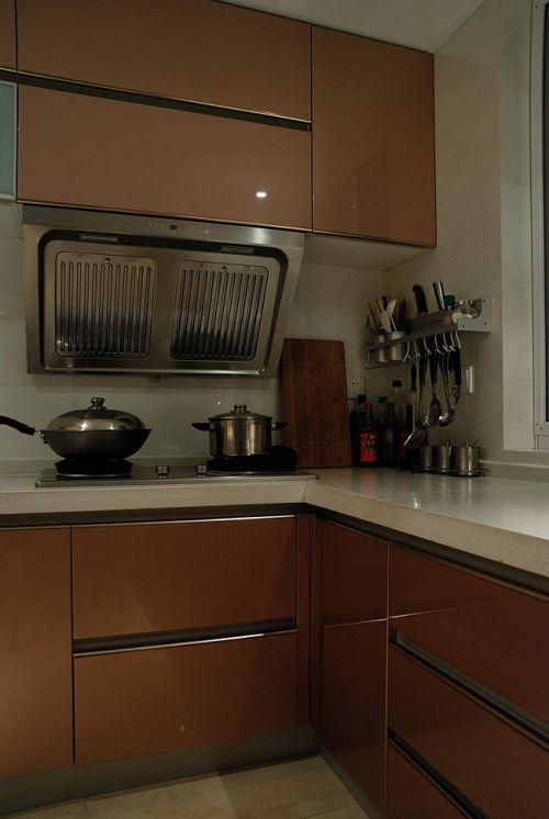 现代简约中式混搭厨房图片