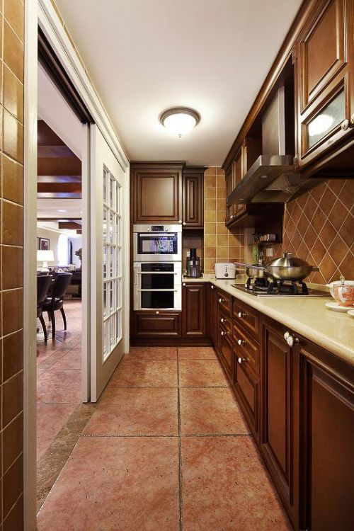 现代简约美式混搭厨房设计图