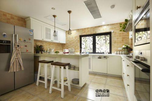 现代简约美式混搭厨房装修案例