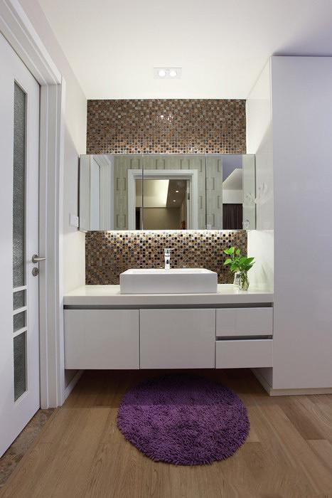 现代简约中式清新卫生间设计图