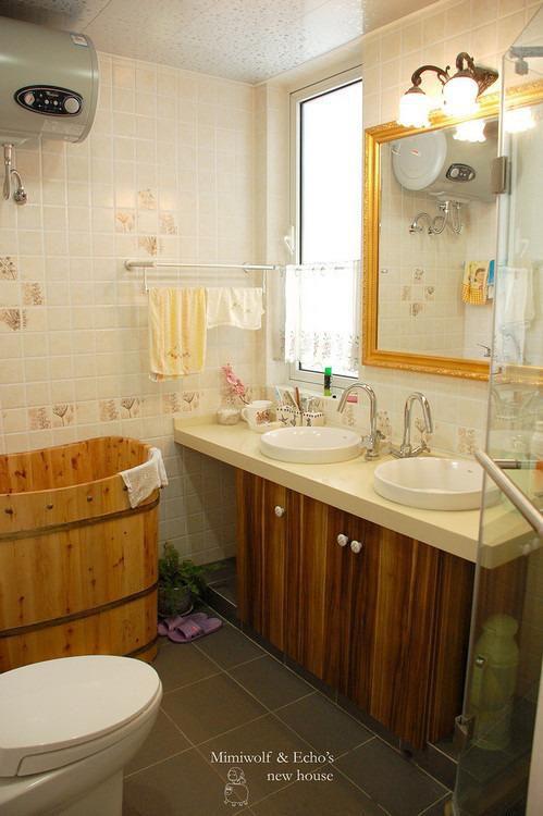 现代简约田园卫生间设计案例展示