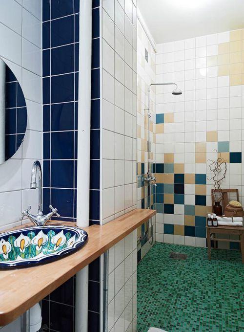 现代简约地中海美式混搭复古卫生间图片