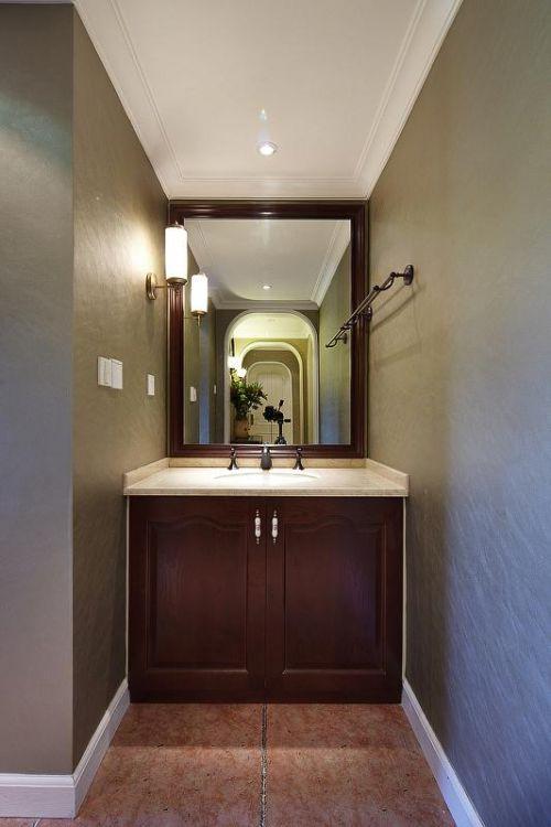 现代简约美式混搭卫生间设计案例展示